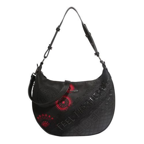 Desigual torba na ramię 'bols_comunika siberia' czerwony / czarny