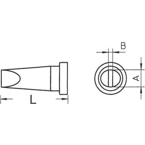Grot lutowniczy Weller LT-B, T0054440599 Kształt dłuta, prosty, 2.4 mm, 1 szt. (4003019002986)