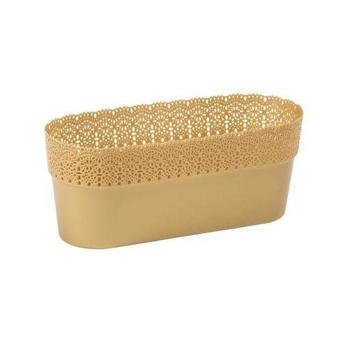 Lamela Osłonka na doniczki 30 x 11.7 cm plastikowa złota bella