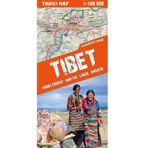 Tybet Mount Everest Nam tso Lhasa Shigatse mapa południowej części Tybetu 1:400 000 (opr. miękka)
