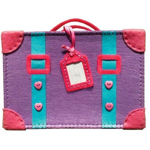 Stnux Filcowe robótki - walizka fioletowa