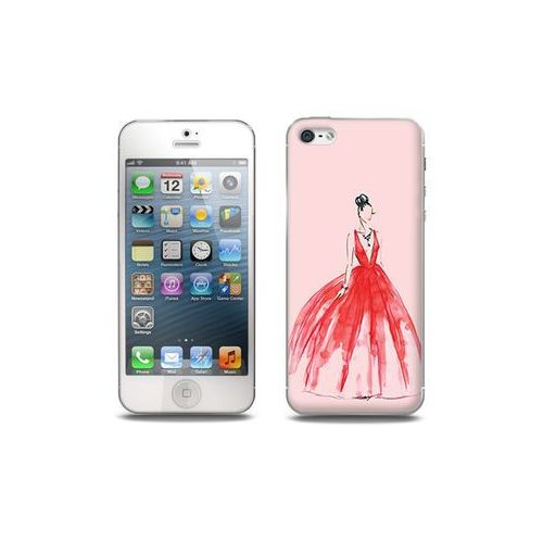 Apple iPhone 5 / 5S - etui na telefon Full Body Slim Fantastic - czerwona suknia, kolor czerwony