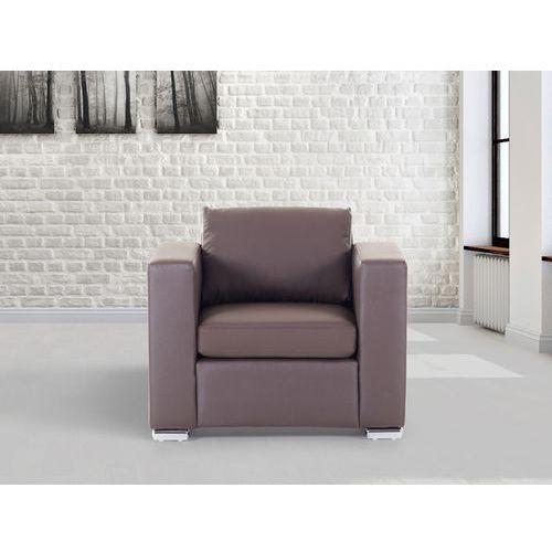 Skórzany fotel brązowy - sofa - HELSINKI, kup u jednego z partnerów