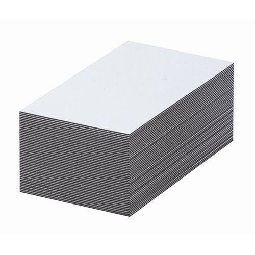 Magnetyczna tablica magazynowa, białe, wys. x szer. 50x100 mm, opak. 100 szt. Za