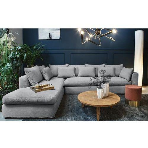 9design Narożnik - sofa lewostronna nicea szara - jasnoszary