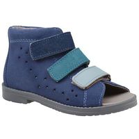 Sandałki profilaktyczne ortopedyczne buty 1042 niebieskie gjnp - niebieski   granatowy marki Dawid