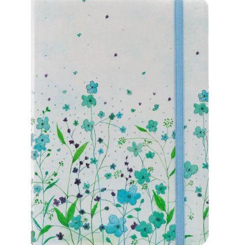 Notatnik mini niebieski w kwiaty marki Peter pauper press