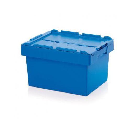 Skrzynka plastikowa z wiekiem, 600x400x340 mm