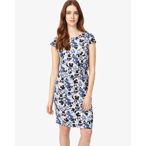 Phase Eight Pansy Print Dress, kolor fioletowy
