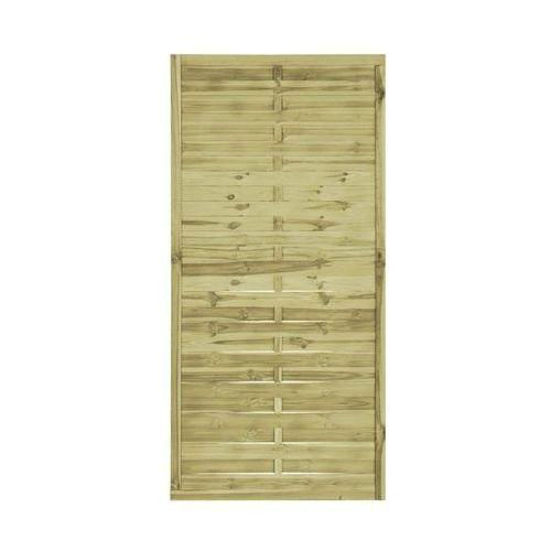 Płot lamelowy 90x180 cm drewniany STELMET (5900886361101)