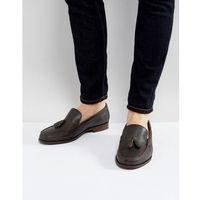 Ben Sherman Tassel Loafers In Brown Leather - Brown