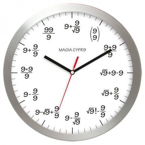 Atrix Zegar aluminiowy matematyka #9