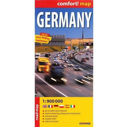 Niemcy mapa laminowana 1:900 000 ExpressMap, praca zbiorowa