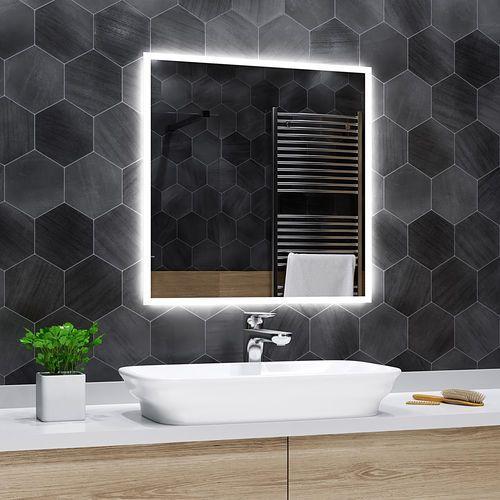 Lustro łazienkowe z podświetleniem led - 100x100cm - boston marki Alasta