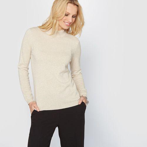 Anne weyburn Kaszmirowy sweter ze stójką z dzianiny o drobnym splocie