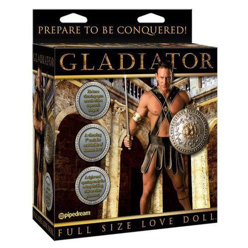 Pipedream Dmuchana lalka gladiator penis 18cm wystający język wibracje | 100% dyskrecji | bezpieczne zakupy