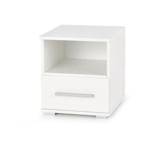 Style furniture Puno szafka nocna biała wysoki połysk