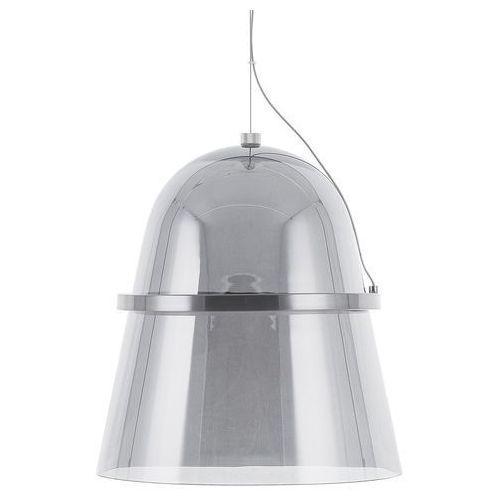 Beliani Lampa wisząca led szklana przydymiona szara ardilla (4260586357837)