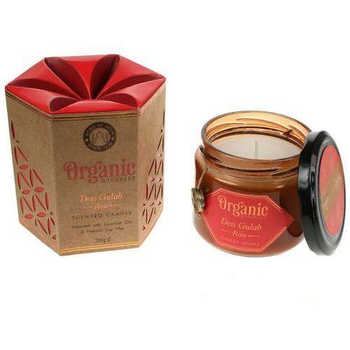 sojowa świeca zapachowa desi gulab rose 200g marki Song of india
