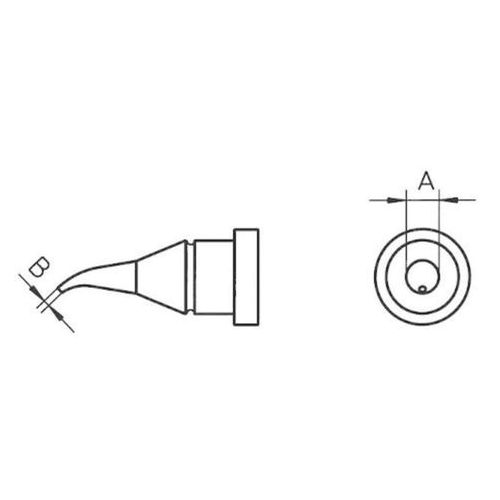 Weller Grot lutowniczy  lt-1x, 00544 425 99 kształt okrągły, zgięty, 0.4 mm, 1 szt.