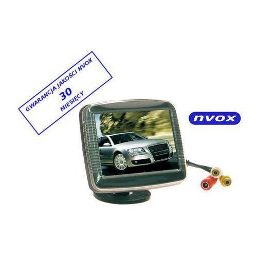 "NVOX RM 358 monitor samochodowy cofania lub wolnostojący LCD 3"" cale AV 12V, RM358"