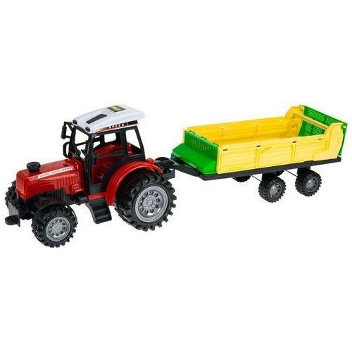Zestaw 2x ciągnik traktor + maszyny rolnicze mały farmer marki Kindersafe