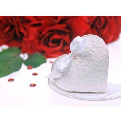 Pudełeczka dla gości serduszko białe - 10 szt.