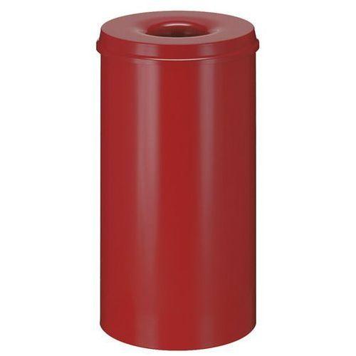 Vepa bins Kosz na papier, samogaszący, poj. 50 l, korpus czerwony / głowica gasząca czerwo