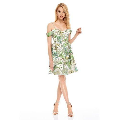 OKAZJA - Sukienka havana w kolorze kremowym marki Sugarfree