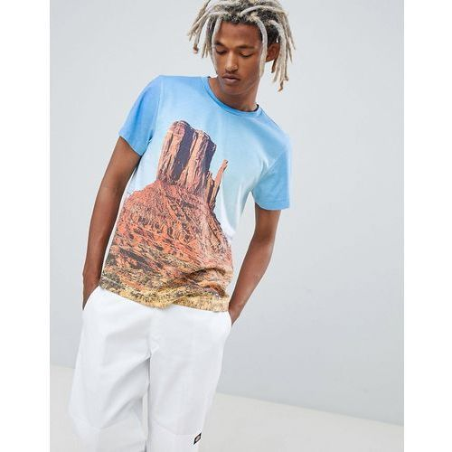Weekday T-Shirt In Blue With Nevada Print - Blue, w 3 rozmiarach