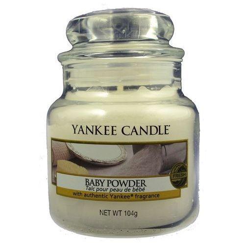 Yankee Candle Baby Powder aromatyczna świeca zapachowa słoik mały 104 g (5038580001235)