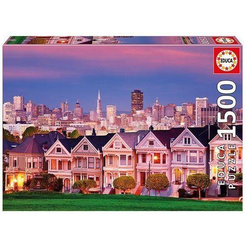 Puzzle 1500 elementów, Painted ladies San Francisco - DARMOWA DOSTAWA OD 199 ZŁ!!!