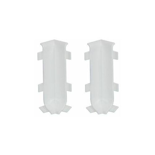 Cezar Zakończenie narozne wewnętrzne listwy cokołowej 59 mm biały mat 2szt (5907684651847)