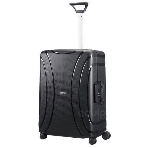 American tourister Walizka średnia lock'n'roll + gratis poduszka podróżna - jet black