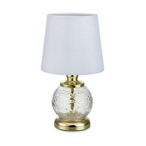 Klasyczna LAMPA stołowa SALONG 106992 Markslojd biurkowa LAMPKA szklana mosiądz biała, 106992