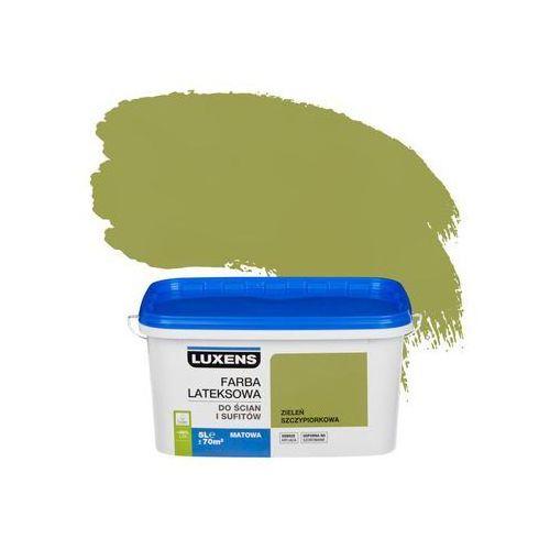 Luxens Farba wewnętrzna do ścian i sufitów emulsja 5 l zieleń szczypiorkowa