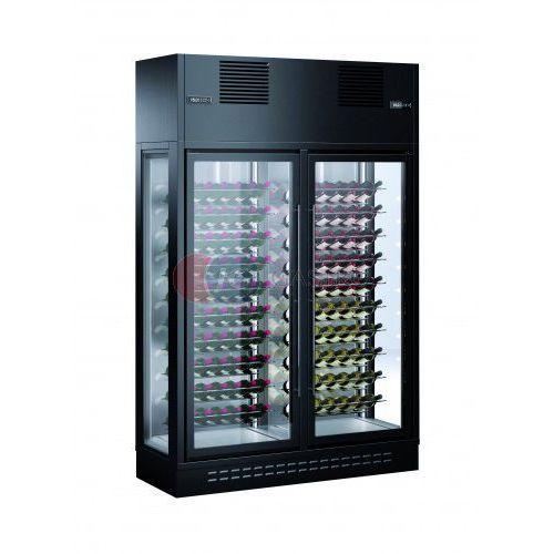 Witryna przyścienna 2-drzwiowa do przechowywania i ekspozycji wina ENOLUX WI-2W-BLA-23