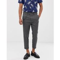 carrot fit smart trousers in mid grey - grey, Burton menswear