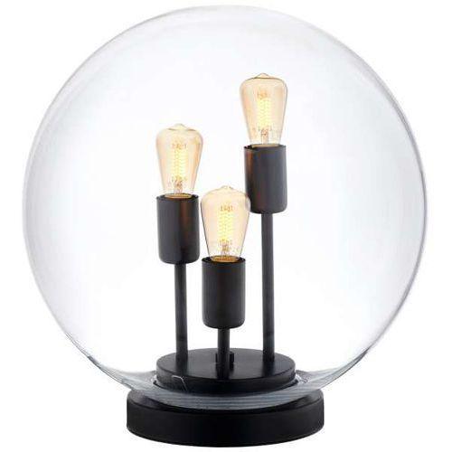 Skandynawska LAMPA stołowa SURYA 40741302 Kaspa stojąca LAMPKA biurkowa kula ball loftowa przezroczysta czarna, 40741302