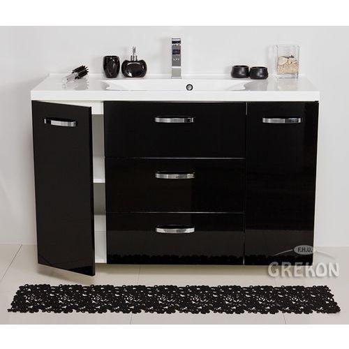 Szafka wisząca czarny połysk z umywalką 120/48 seria jona c marki Gante
