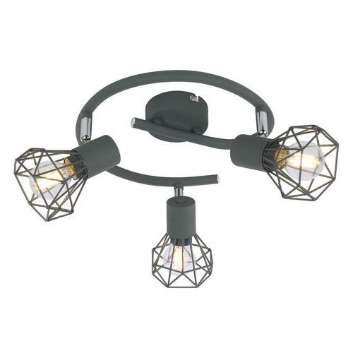 CANDELLUX VERVE 98-60990 Lampa punktowa 3x40W E14 szary, 98-60990