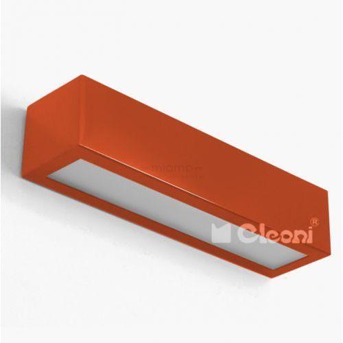 Kinkiet lampa ścienna nekla 40 ic100f 1152k1.114 prostokątna oprawa metalowa listwa pomarańczowa marki Cleoni