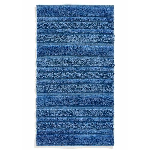 Dywaniki łazienkowe z ozdobnymi elementami w złotym kolorze niebieski marki Bonprix