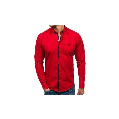 Koszula męska elegancka z długim rękawem czerwona Bolf 7720
