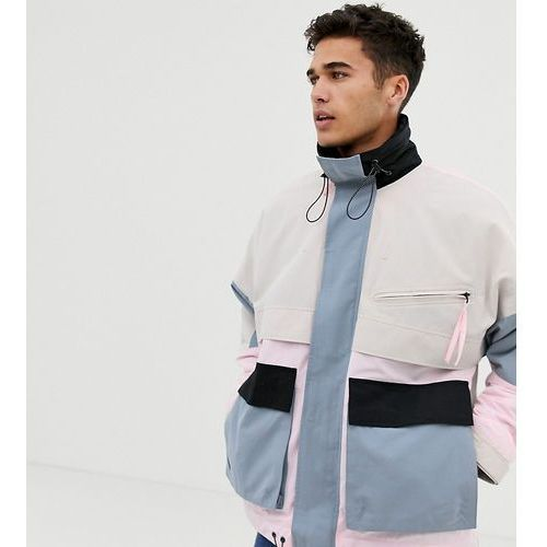 Noak wadded multi-pocket jacket in pastel colour - grey