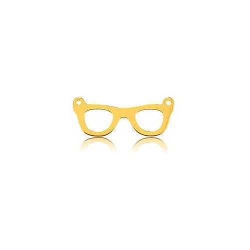 925.pl Zawieszka łącznik okulary, złoto próba 585