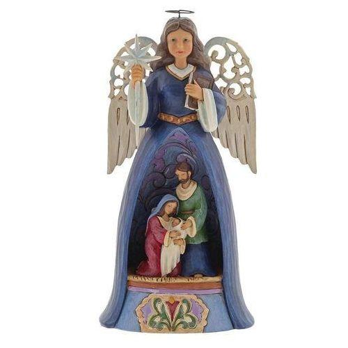 Jim shore Anioł szopka święta rodzina a savior for all (lit nativity angel) 4060271 figurka ozdoba świąteczna
