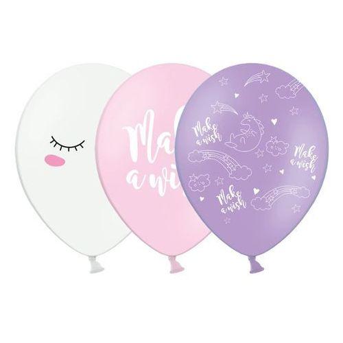 """Balony """"Jednorożec"""", pastel mix, 12"""", STRONG, 6 szt (5902230764187)"""