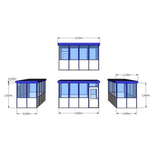 Bkm metallbau Budynek uniwersalny, wypełnienia z narożnikami, na zewnątrz, dł. x szer. 4050x20