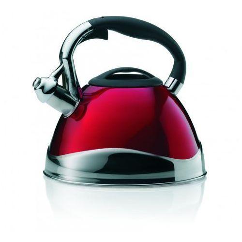 Kela Czajnik stalowy czerwony z gwizdkiem varus 3 litry (ke-11658) (4025457116582)